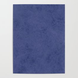 Blue suede Poster