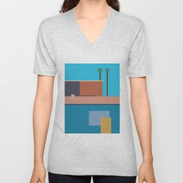 Homage To Hockney Unisex V-Neck