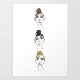 Pretty Ladies Art Print