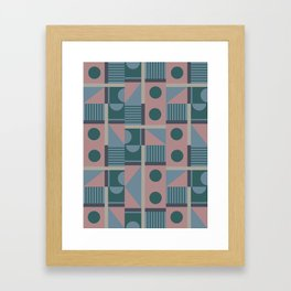 Geometrical Pattern Framed Art Print