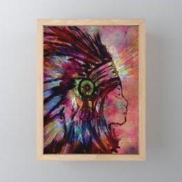 Native American Medicine Woman Spiritual Shaman Framed Mini Art Print