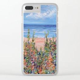 Summer Beach, Impressionism Seascape Clear iPhone Case