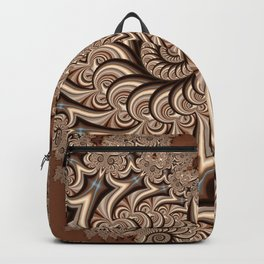 Owl Fractal Chocoate Backpack