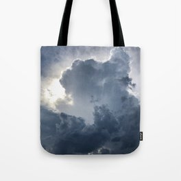 Storm Clouds with Cross Tote Bag