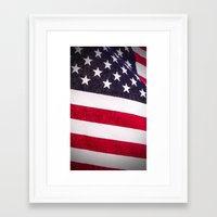 america Framed Art Prints featuring America by Mary Timman
