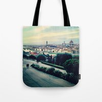florence Tote Bags featuring Florence by Rachel Weissman