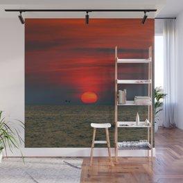 SUNSET AT SILVER BEACH Wall Mural