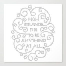 Neutral Milk Hotel - How Strange It Is To Be Anything At All Canvas Print