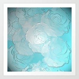 Embossed roses Art Print
