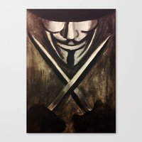 vendetta Canvas Prints featuring VENDETTA by The Traveling Catburys