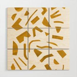 Cut out - Yellow Wood Wall Art