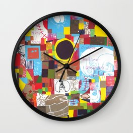 Microcosm Collage Wall Clock