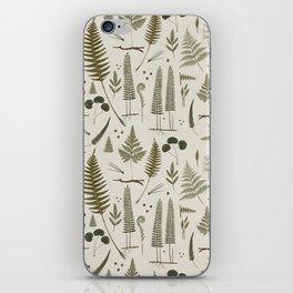 fern pattern white iPhone Skin