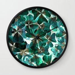 Lucky Leaves v1 Wall Clock