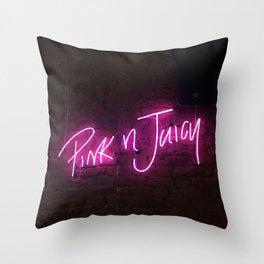 Pink n Juicy Throw Pillow