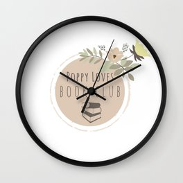 Poppy Loves Book Club Wall Clock