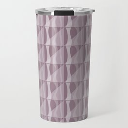 Simple Geometric Pattern 2 in Musk Mauve Travel Mug