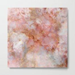 Beautiful & Dreamy Rose Gold Marble Metal Print