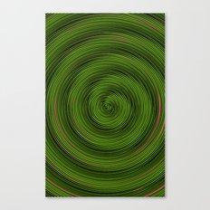 Crazy Green Spiral Canvas Print