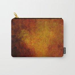 Grunge dark orange brow Carry-All Pouch