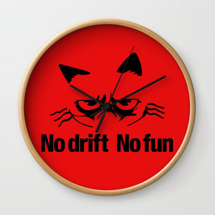 No drift No fun v5 HQvector Wall Clock