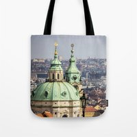 prague Tote Bags featuring Prague by Veronika