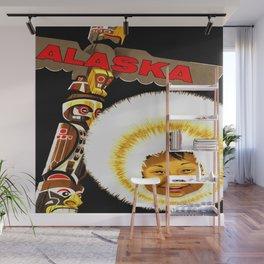 Alaska Totem Pole Travel Wall Mural