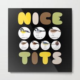 Nice Tits Bird Birds Watching Tit Nature Metal Print