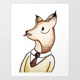Master Fox Art Print