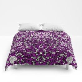 Bled Out Violet Comforters