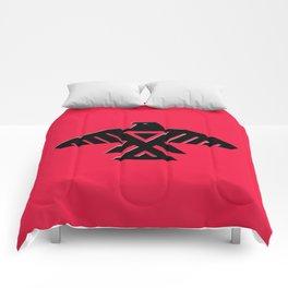 Animikii Thunderbird doodem on red - HQ image Comforters