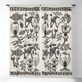 African Senufo Korhogo Tribal Ethnic Art Seamless Pattern Blackout Curtain