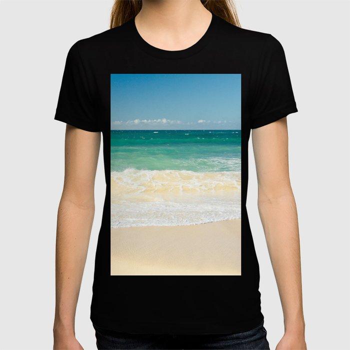 beach blue T-shirt