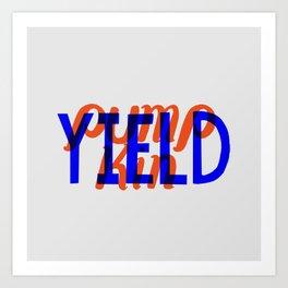 Yield, Pumpkin Art Print