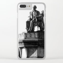 old man statue Clear iPhone Case