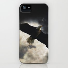 Soaring Eagle in Stormy Skies iPhone Case