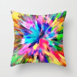 color explosion gogh pattern gostd Throw Pillow