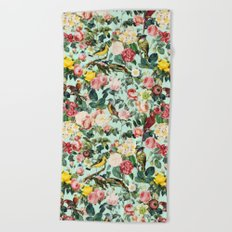 Floral and Birds III Beach Towel