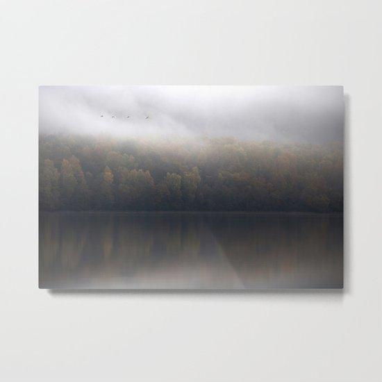 Whooper Swans over Loch Insh Metal Print