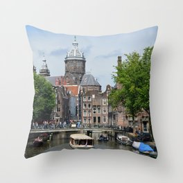 Sunny Amsterdam Throw Pillow