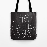 constellations Tote Bags featuring Constellations  by Estaschia Cossadianos