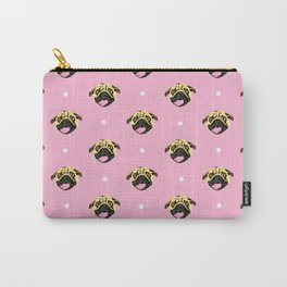 Baby Pink Pug Face Pattern Carry-All Pouch