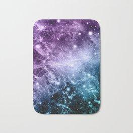 Purple Teal Galaxy Nebula Dream #4 #decor #art #society6 Bath Mat