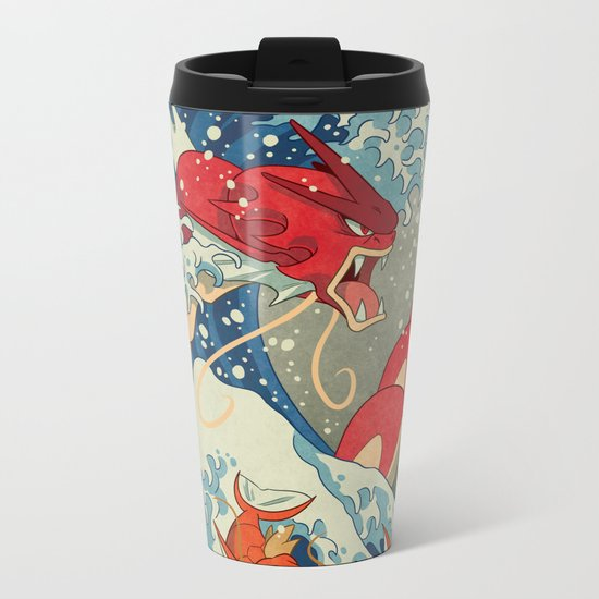 The Great Red Wave Metal Travel Mug