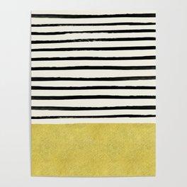 Gold x Stripes Poster