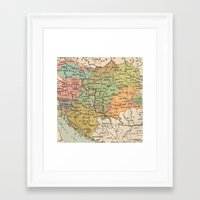 vintage map Framed Art Prints featuring Vintage Map by littlehomesteadco