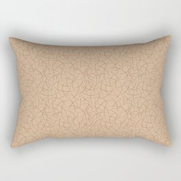 Cavern Clay SW 7701 Abstract Crescent Shape Pattern on Ligonier Tan SW 7717 Rectangular Pillow