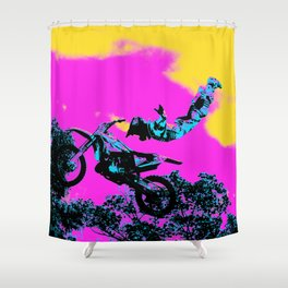 Letting Go - Freestyle Motocross Stunt Shower Curtain