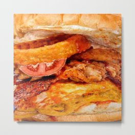 Fried fast food love from  SOCIETY6 Metal Print