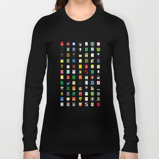 Minimalism Villains Long Sleeve T-shirt